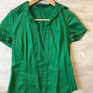 Kelly green button down